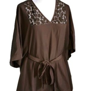 Michael Kors Brown Caftan Top or Cover Up SMALL
